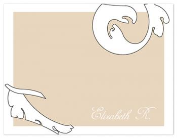 Simple Brocade Personal Stationery