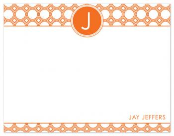 Mod Disc Monogram Personal Stationery