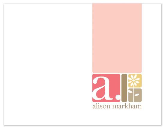 personal stationery - Alphablocks by Karen Glenn