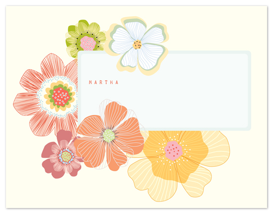 personal stationery - Floral Butter by Gleaux Art and Design