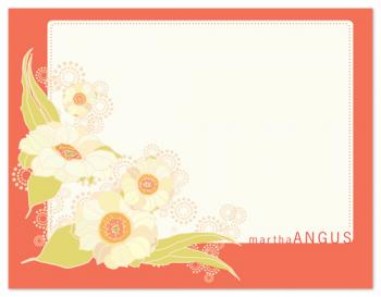 Quilt Flowers Personal Stationery