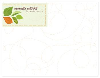 Whirling Leaves Personal Stationery