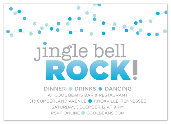 party invitations - Jingle Bell Rock by JessLehry
