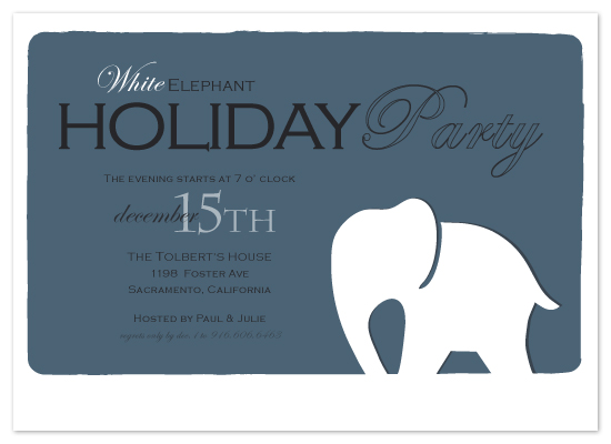 party invitations - Holiday Elephant by SimpleTe Design