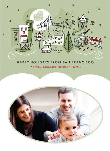 Foggy Holiday Holiday Photo Cards