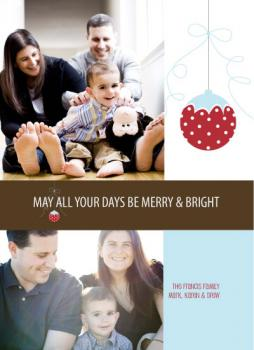 Happy Ornament Holiday Photo Cards