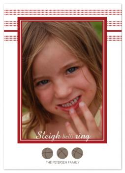 Sleigh bells Holiday Photo Cards