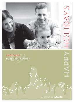 snow in dallas Holiday Photo Cards
