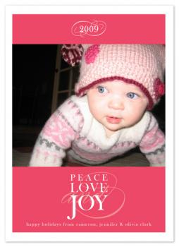 Peace Love and Joy Holiday Photo Cards