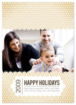 Geo Snowflakes Holiday Photo Cards