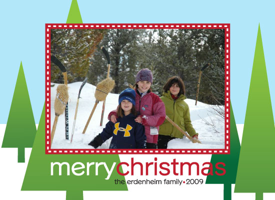 holiday photo cards - ModernChristmasTrees by LisaT
