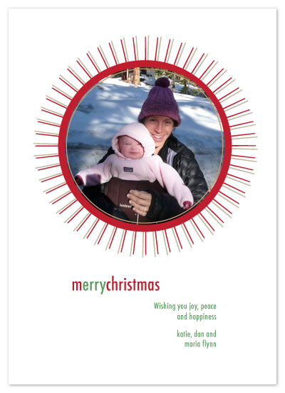 holiday photo cards - MerryStarburst by Lisa Travis