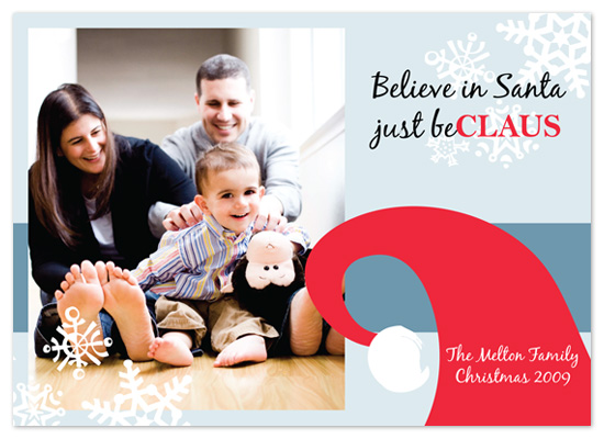 Believe in Santa Holiday Photo Cards