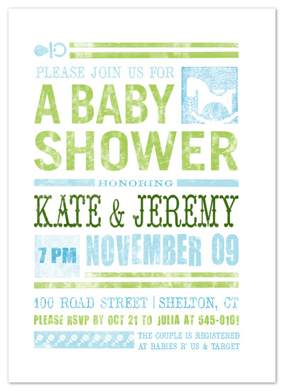 invitations - Rattles & Rockers Baby Shower Print by Rachael Schendel
