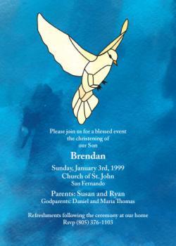 Peace Dove Invitation