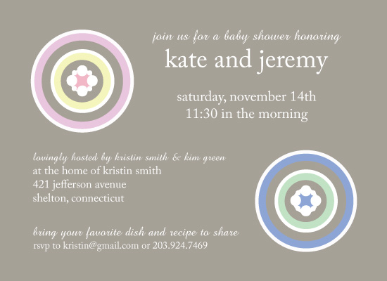 invitations - Baby Sorbet by Maxeli Designs
