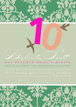 10! the momentous Occasion! Green