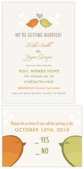 Birds of a Feather Wedding Invitations