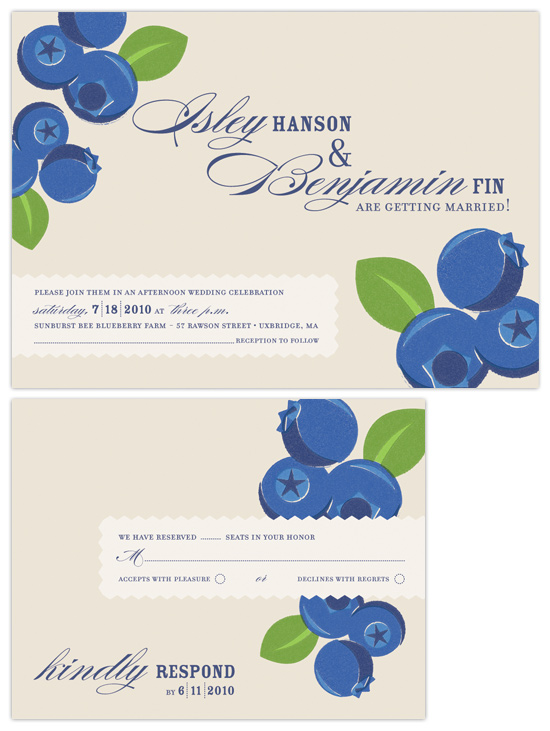 Country Canning Wedding Invitations