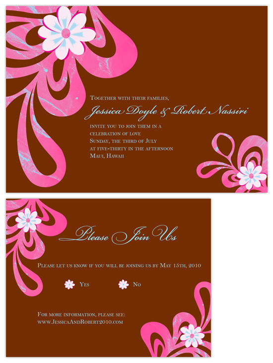 Aloha Wedding Invitations