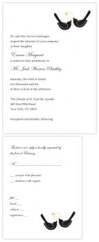 Black Tie Lovebirds Wedding Invitations