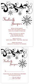 Black & White Snowflake Wedding Invitations