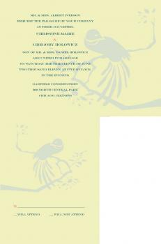 Bird for Two Wedding Invitations