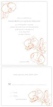 beloved orchid Wedding Invitations