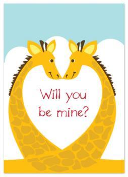 Giraffes in Love Valentine's Day