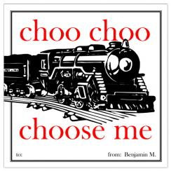 Choo Choo Choose Me Valentine's Day