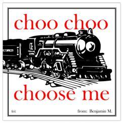 Choo Choo Choose Me Valentine's Day