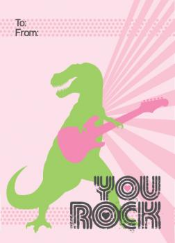 TRex Rock Valentine's Day
