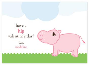 hip hippo  Valentine's Day