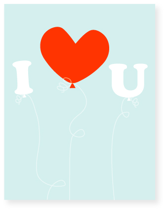 valentine's day - heart balloon by Marabou Design