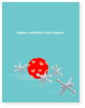 player Valentine's Day