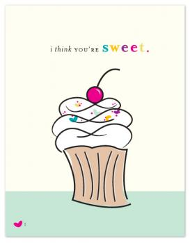 sweet as a cupcake Valentine's Day
