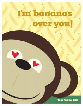 bananas Valentine's Day