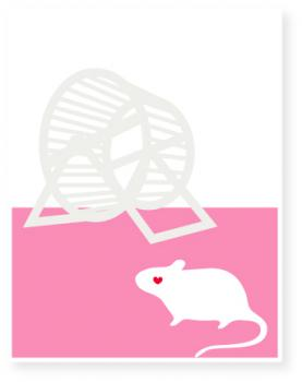 rodent wheel Valentine's Day