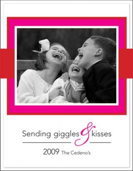 Giggles & Kisses Photo Card Valentine's Day