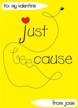 Just bee-cause Valentine's Day