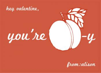 You're Peachy Valentine's Day