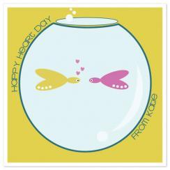 Fish Bowl Valentine's Day