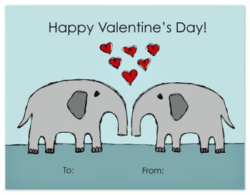 Elephant Love Valentine's Day