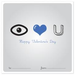 I Heart  You Blue Valentine's Day