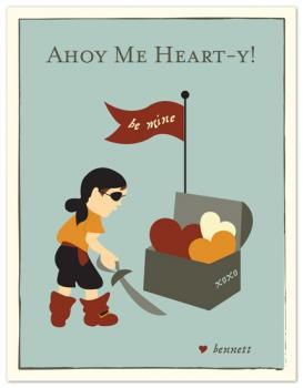 lil pirate valentine Valentine's Day