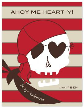 pirate valentine Valentine's Day