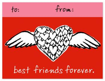 Friend's are Like Angels Valentine's Day