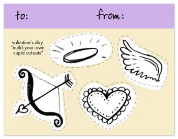 Build-Your-Own Cupid Card Valentine's Day