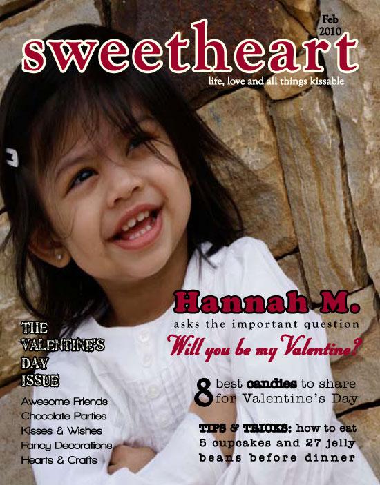 valentine's day - Sweetheart Magazine Cover Valentine at ...