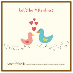 Little Birds Valentine Valentine's Day